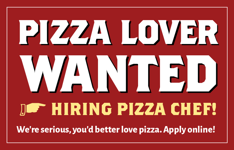 Pizza lover wanted! Part-time Pizza Chef - apply online!
